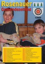 01. Ausgabe 2004 - Rosenau am Hengstpaß
