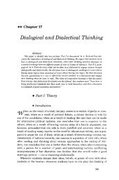 Dialogical and Dialectical Thinking - The Critical Thinking Community