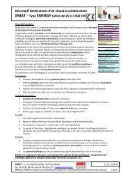 Descriptif pour CCTP - EMAT