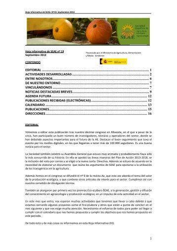 HI e-SEAE n19. 30septiembre12 - Sociedad Española de ...