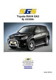 Preise Toyota RAV4 XA3 03/2006 - SGS