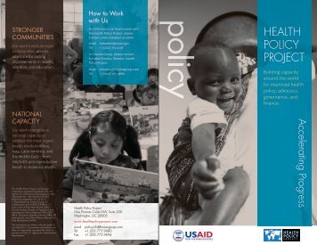 Download Health Policy Project overview brochure