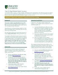 Your eCollege Related Argosy Accounts - Argosy University