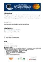 REALIZAÇÃO APOIO PATROCÍNIO OBJETIVO GERAL ... - SOVERGS