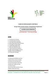 lista definitiva dos candidatos aprovados para o Curso de ... - CFESS