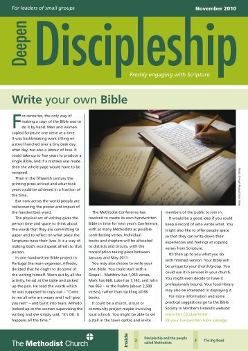 Write your own Bible - The Methodist Church of Great Britain