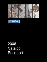 fowler 2006 price list - JW Donchin CO.