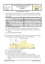 Escola Secundária com 3º ciclo D. Dinis 10º Ano de Matemática – A ...