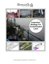 Inspection Strategy For Contaminated Land - Newcastle City Council