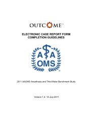 electronic case report form completion guidelines - American ...