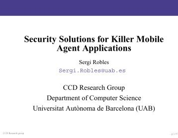 Killer Applications for Mobile Agents