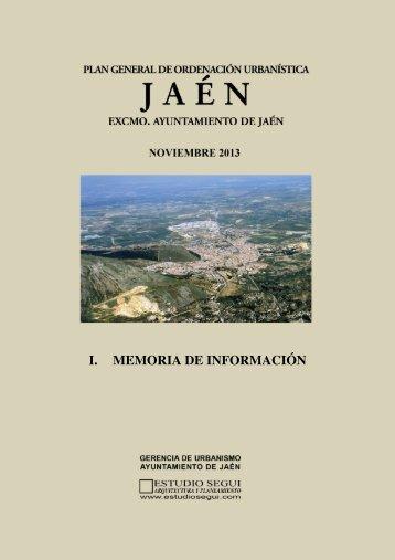I. MEMORIA DE INFORMACIÓN - Ayuntamiento de Jaén