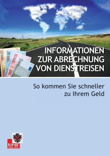 INFORMATIONEN ZUR ABRECHNUNG VON DIENSTREISEN - pv ...