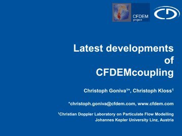 Latest developments of the Open Source CFDEM project