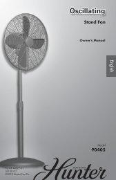 Oscillating - Hunter Fan