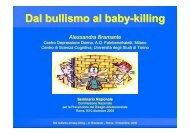 Dal bullismo al baby-killing - USP di Piacenza