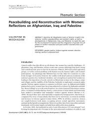 Peacebuilding and Reconstruction with Women: Reflections ... - insct