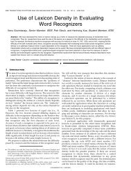 Use of lexicon density in evaluating word recognizers ... - IEEE Xplore