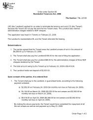 Order Page 1 of 2 Order under Section 69 Residential Tenancies Act ...
