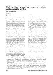 Risico's bij de repressie van zware ongevallen met gevaarlijke stoffen