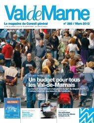 ValdeMarne n°288 / Mars 2012 - Conseil général du Val-de-Marne