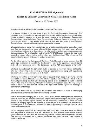 Speech by European Commission Vice-president Siim Kallas
