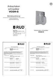 Anbauhaken schraubbar VCGH-G - RUD