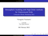 Atmospheric modelling using higher order methods - LinkSCEEM