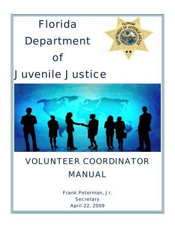 Volunteer Coordinator Manual - Florida Department of Juvenile Justice