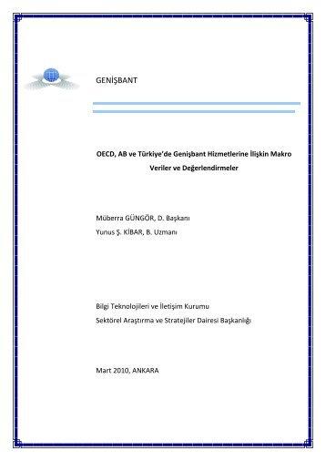 Teknolojik & Kurumsal Değişimler ve Telekomünikasyon ...