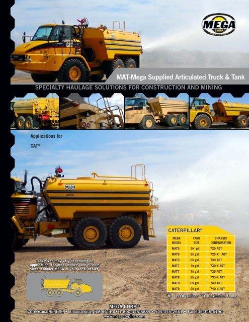 MAT Mega Supplied Articulated Truck Tank