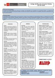 Código de Ética de la Función Pública LEY Nº 27815 - Imarpe