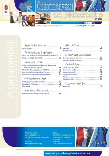 Önkormányzati tájékoztató - Magyar Nemzeti Vidéki Hálózat
