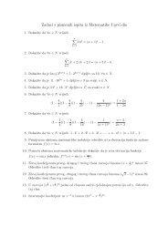 Zadaci s pismenih ispita iz Matematike I prvi dio
