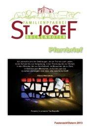 Pfarrbrief Fastenzeit/Ostern 2013 - Pfarrei St. Josef Buckenhofen
