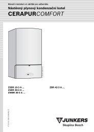 Nástěnný plynový kondenzační kotel CERAPURCOMFORT