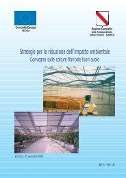Strategie per la riduzione dell'impatto ambientale - Regione Campania