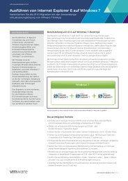 Ausführen von Internet Explorer 6 auf Windows 7 - VMware