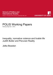 Inequality, normative violence and livable life - School of Politics ...
