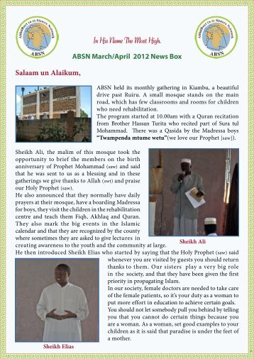 March April newsbox.indd - The World Federation of KSIMC
