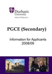 ED346SecondaryGenera.. - Durham University