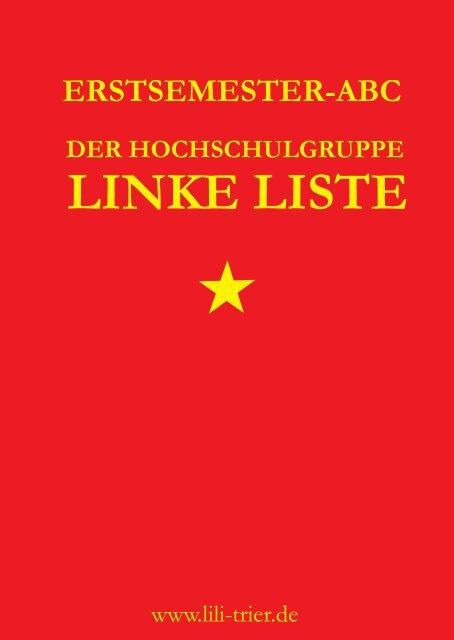 Erstsemester ABC (Download) - Linke Liste Trier