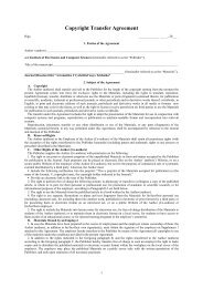 The Agreement form.
