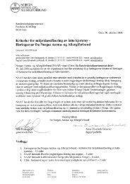 Kriterier for miljøklassifisering av lette kjøretøy - NAAFs høringssvar ...