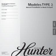 Modèles TYPE 3 - Hunter Fan