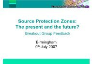 Notes from the breakout groups - The UK Groundwater Forum