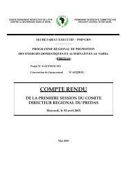 B FASO - Première réunion du Comite Directeur Régional ... - CILSS