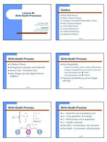 Lecture 6 Birth-Death Process