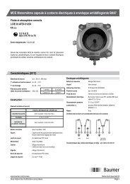 MCE Manomètres capsule à contacts électriques à ... - Baumer