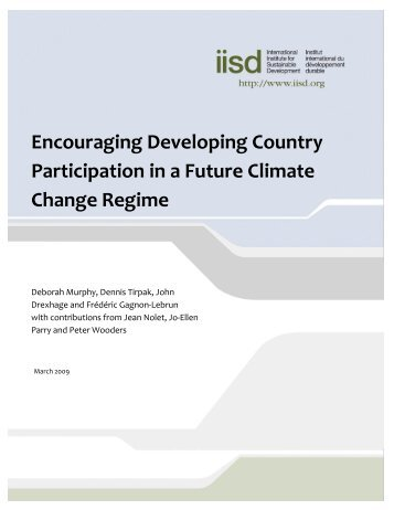 Encouraging Developing Country Participation in a Future Climate ...